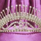 Golden Wedding Headband;Rhinestone Bridal tiara;Elegance Dancer Opera regal;Bridesmaid Tiaras#524g