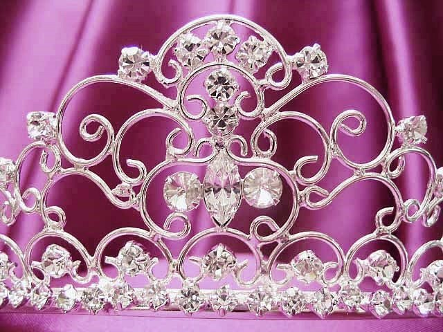 Silver Wedding Headpiece;Rhinestone Bridal tiara;Elegance Dancer Opera regal;Bridesmaid Tiaras#208