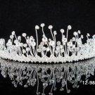 Fancy Silver Bridal tiara;Wedding Headband;Rhinestone Dancer Opera regal;Bridesmaid Tiaras#9860