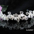Fancy Silver Bridal tiara;Wedding Headband;Rhinestone Dancer Opera regal;Bridesmaid Tiaras#2007