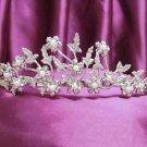 Fancy Silver Bridal tiara;Wedding Headband;Rhinestone Dancer Opera regal;Bridesmaid Tiaras#1875
