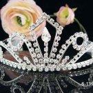 Wedding Imperial;Silver Fancy Bridal headpiece;Rhinestone Dancer Opera regal;Bridesmaid Tiaras#1191