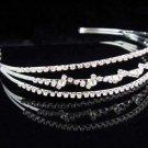 Wedding Headband;Silver Fancy Bridal headpiece;Rhinestone Dancer Opera regal;Bridesmaid Tiaras#1305