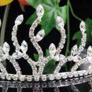 Silver Wedding imperial ;Bridal headpiece;Rhinestone Dancer Opera regal;Bridesmaid Tiaras#5242