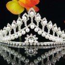 Silver Wedding imperial ;Bridal headpiece;Rhinestone Dancer Opera regal;Bridesmaid Tiaras#48