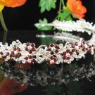 Floral Wedding Headband ;Bridal headpiece;Rhinestone Dancer Opera Tiara;Bridesmaid Tiaras#701r