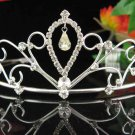 Wedding Silver Imperial ;Bridal headpiece;Rhinestone Dancer Opera Tiara;Bridesmaid Tiaras#850