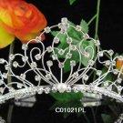 Wedding Silver Imperial ;Bridal headpiece;Rhinestone Dancer Opera Tiara;Bridesmaid Tiaras#1021