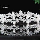 Fancy Wedding Silver Tiara ;Bridal headpiece;Rhinestone Dancer Opera Tiara;Bridesmaid Tiaras#6424