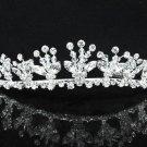 Dancer Opera Tiara;Wedding Silver Tiara;Bridal headpiece;Rhinestone Bridesmaid Tiaras#9051