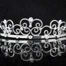 Dancer Opera Tiara;Wedding Silver Tiara;Bridal headpiece;Rhinestone Bridesmaid Tiaras#05