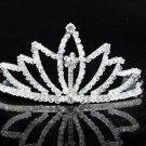 Dancer Opera Tiara;Wedding Silver Tiara;Bridal headpiece;Rhinestone Bridesmaid Tiaras#527