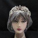 Luxurious Bridesmaid Tiaras;Dancer Opera Tiara;Wedding Silver Tiara;Bridal headpiece#13