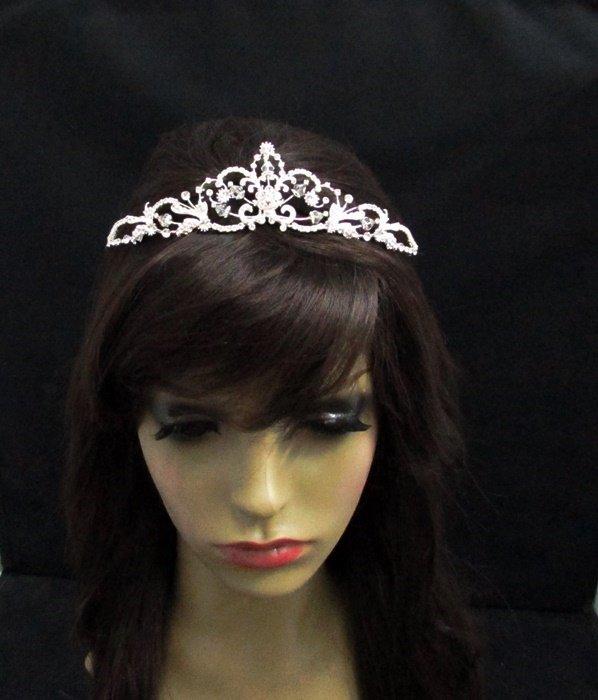 Luxurious Bridesmaid Tiaras;Dancer Opera Tiara;Wedding Silver Tiara;Bridal headpiece#1042
