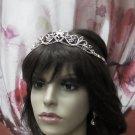 Delicate Bridesmaid Tiaras;Dancer Opera Tiara;Wedding Silver Tiara;Bridal headpiece#1111r
