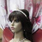 Floral Bridesmaid Headband;Dancer Opera Tiara;Wedding Silver Tiara;Bridal headpiece#624