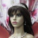Elegance Bridesmaid Imperial;Dancer Opera Tiara;Wedding Silver Tiara;Bridal headpiece#459