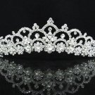 Elegance Bridesmaid Imperial;Dancer Opera Tiara;Wedding Silver Tiara;Bridal headpiece#3053s