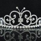Dancer Opera Tiara;Elegance Bridesmaid Imperial;Wedding Silver Tiara;Bridal headpiece#8980