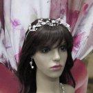 Elegance Bridesmaid Headband;Dancer Opera Tiara;Wedding Silver Tiara;Bridal headpiece#1315