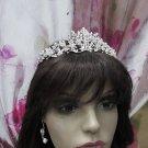 Elegance Bridesmaid Headband;Dancer Opera Tiara;Wedding Silver Tiara;Bridal headpiece#1314