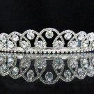 Dancer Opera Tiara;Elegance Bridesmaid Imperial;Wedding Silver Tiara;Bridal headpiece#163
