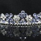 Dancer Opera Tiara;Elegance Bridesmaid Imperial;Wedding Silver Tiara;Bridal headpiece#164pu