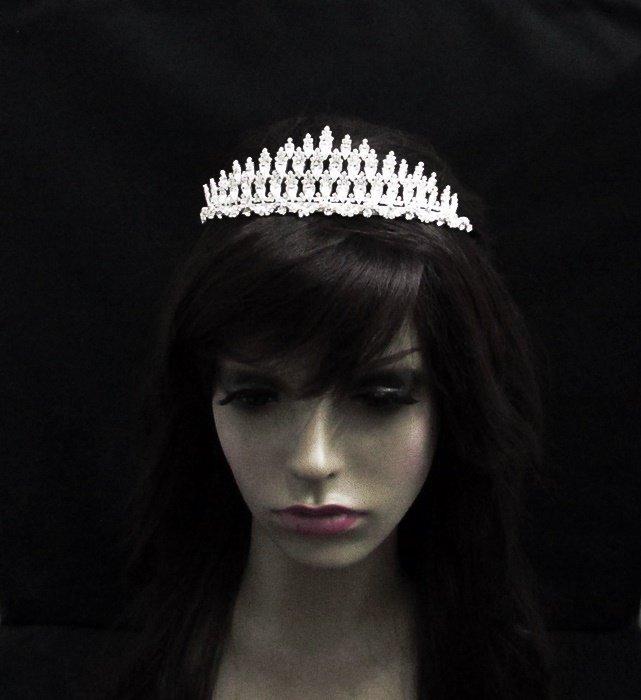 Fancy Bridesmaid imperial ;Dancer Opera Tiara;Wedding Silver Tiara;Bridal headpiece#2041