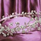 Fancy Floral Headband ;Dancer Opera Tiara;Wedding Silver Tiara;Bridal headpiece#2016
