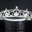 Elegance Silver Tiara ;Dancer Opera Tiara;Wedding Silver Tiara;Bridal headpiece#6012