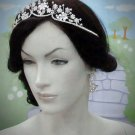 Fancy Silver Regal ;Dancer Opera Tiara;Wedding Silver Tiara;Bridal headpiece#4867