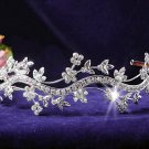 Fancy Silver Headband ;Dancer Opera Tiara;Wedding Silver Tiara;Bridal imperial#4938
