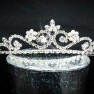 Fancy Silver Regal ;Dancer Opera Tiara;Wedding Silver Tiara;Bridal imperial#6812