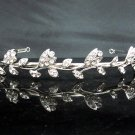 Fancy Silver Headband;Dancer Opera Tiara;Wedding Silver Tiara;Bridal imperial#0137