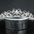 Fancy Silver Headband;Dancer Opera Tiara;Wedding Silver Tiara;Bridal imperial#2003