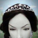 Fancy Silver Regal ;Dancer Opera Tiara;Wedding Silver Tiara;Bridal imperial#541