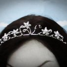 Fancy Silver Regal ;Dancer Opera Tiara;Wedding Silver Tiara;Bridal imperial#4724