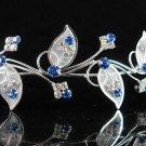 Elegance Headpiece;Dancer Opera Tiara;Wedding Silver Tiara;Bridal imperial#3788
