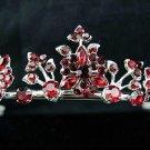 Elegance Headpiece;Dancer Opera Tiara;Wedding Silver Tiara;Bridal imperial#584r