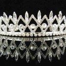 Elegance Headpiece;Dancer Opera Tiara;Wedding Silver Tiara;Bridal imperial#432s