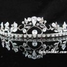 Elegance Headpiece;Dancer Opera Tiara;Wedding Silver Tiara;Bridal imperial#1770