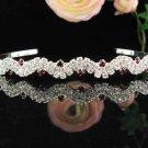 Silver Fancy Headband;Dancer Opera Tiara;Wedding Silver Tiara;Bridal imperial#2742r