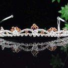 Silver Fancy Headband;Dancer Opera Tiara;Wedding Silver Tiara;Bridal imperial#6842