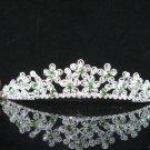 Silver Fancy Headpiece;Dancer Opera Tiara;Wedding Silver Tiara;Bridal imperial#515GR