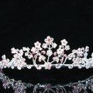 Silver Floral Headpiece;Dancer Opera Tiara;Wedding Silver Tiara;Bridal imperial#395p