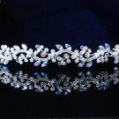 Silver Fancy Headband;Dancer Opera Tiara;Wedding Silver Tiara;Bridal imperial#46B