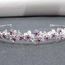 Silver Fancy Headband;Dancer Opera Tiara;Wedding Silver Tiara;Bridal imperial#697pu