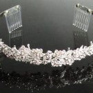 Silver Fancy Headband;Dancer Opera Tiara;Wedding Silver Tiara;Bridal imperial#701S