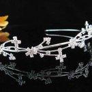 Silver Fancy Headband;Dancer Opera Tiara;Wedding Silver Tiara;Bridal imperial#2017S