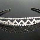 Silver Fancy Headband;Dancer Opera Tiara;Wedding Silver Tiara;Bridal imperial#3670S